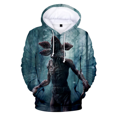 Stranger Things Halloween 3D Hoodie Casual Long Sleeve Sweatshirt 2019