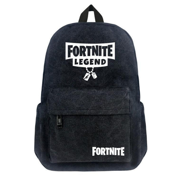 Canvas Fortnite Battle Royale School Bag