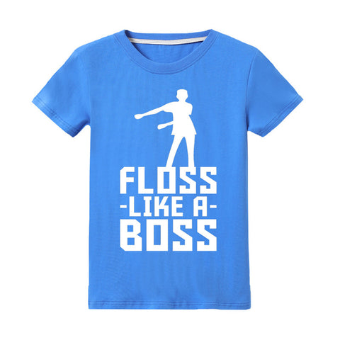 Kids Fortnite Shirt Floss Like a Boss Flossin Dance Youth T Shirt