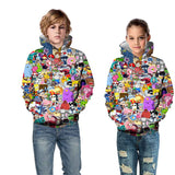 Kids 3D Cartoon Printed Hoodies Sweatshirts