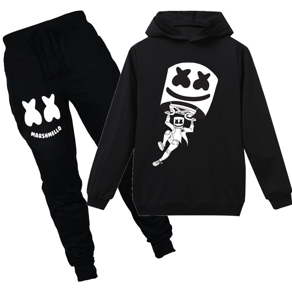 Kids Marshmello Hoodie+Pants Long Sleeves Sweatshirt Suit
