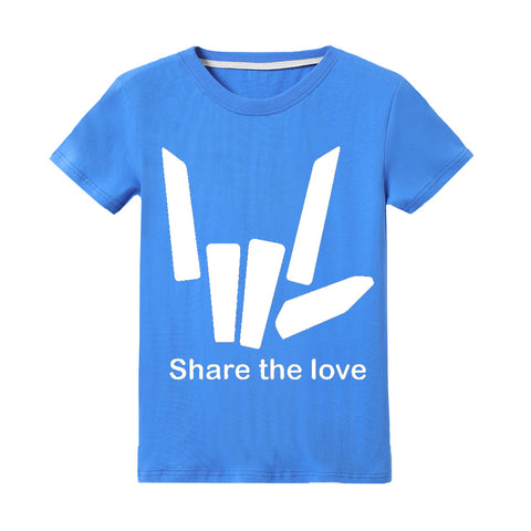 Kids Share The Love T-shirt Fortnite Printed Shirt