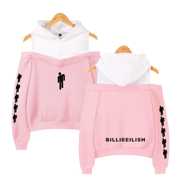 Unisex Billie Eillish Off Shoulder Pullover Sweatshirt Girls Hoodie