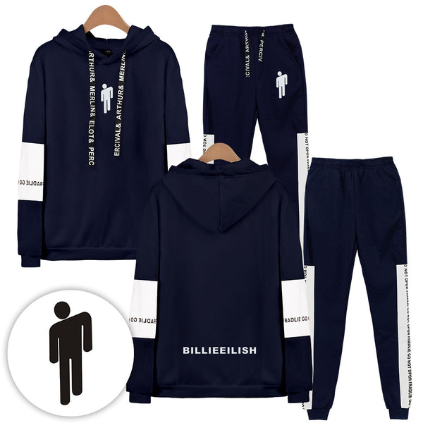 Billie Eilish Casual Sports Suit Set Hoodies & Sweatshirts and Pants Suit
