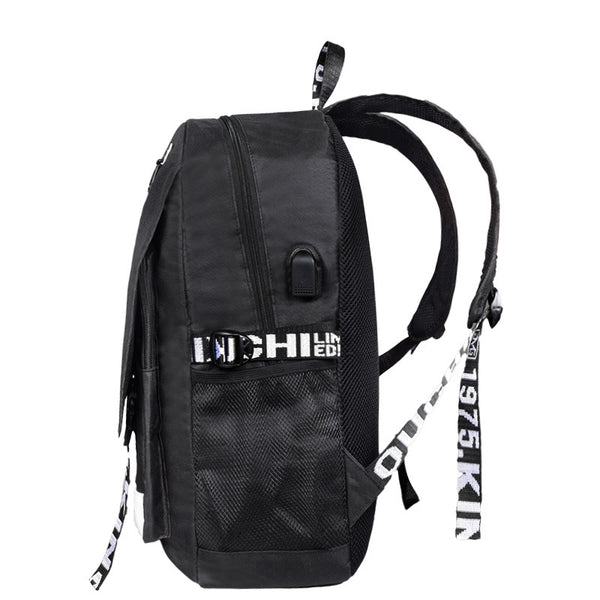 Kids Fortnite Luminous Backpack Student Bag