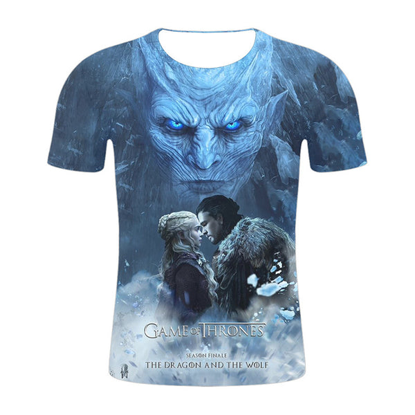 3D Print Game of Thrones Casual Short Sleeve T Shirt