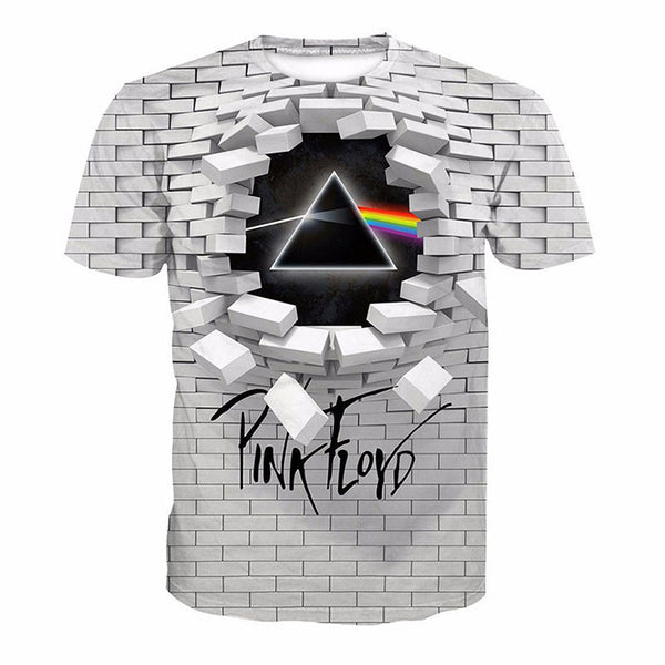 Pink Floyd T-shirt 3D The Wall Print Summer Tee