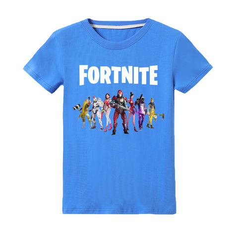 Fortnite Role Print T-shirt Kids Cotton Tee
