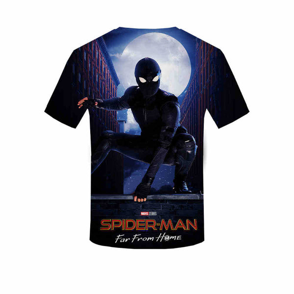 2019 PS Heroes Expedition Spiderman T-shirt 3D Short Sleeves