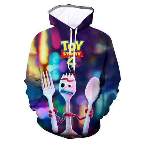 Vivid Toy Story 4 Printed Hoodie Kids Hooded Sweatshirt