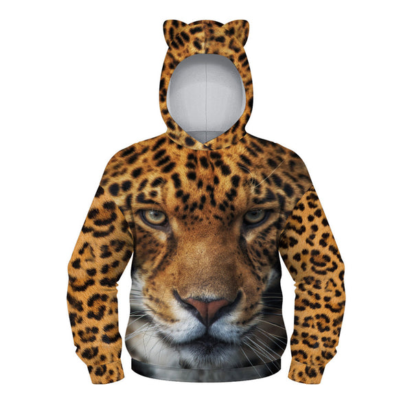 Teens Cute Bear Ear Hoodie 3D Printed Sweatshirt