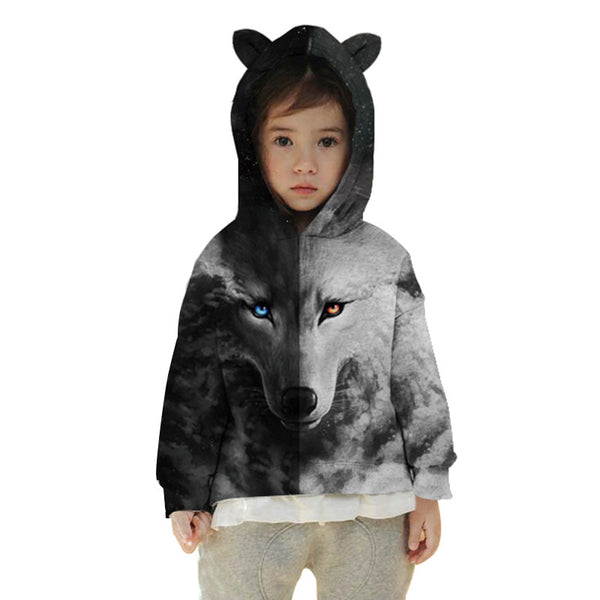 Kids Cat Ear 3D Hoodie Novely Sweatshirt For 4-15Y
