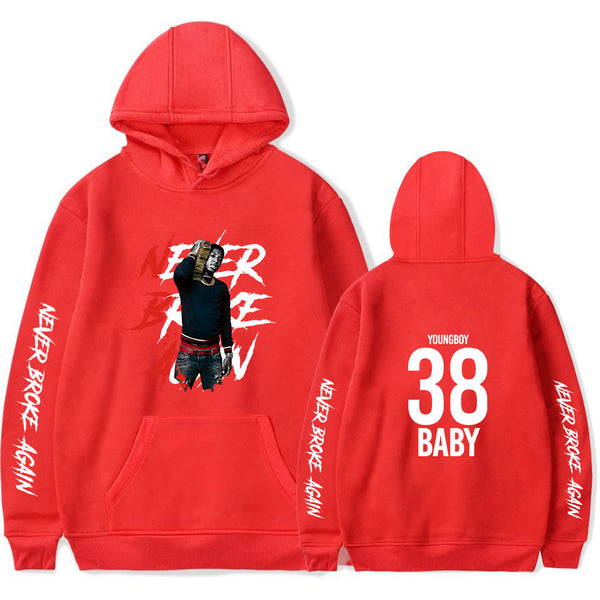 Unisex Youngboy Long Sleeve Hoodie Top Rapper Sweatshirt