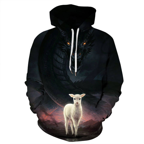 Halloween 3D Printed Hoodie The Lamp And  The Dragon Sweatshirt