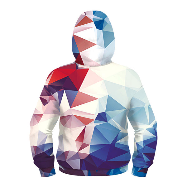 Kids Full-Zip Hoodie 3D Print Graphic Pullover Sweatshirts