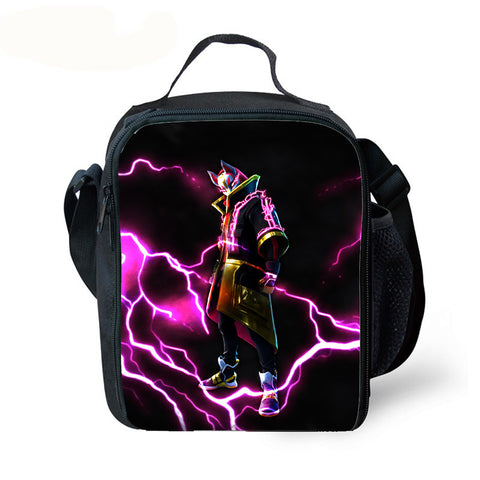 Kids Fortnite Lunch Box Waterproof Insulated Lunch Bag for School