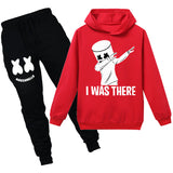 Youth DJ Marshmello Hoodies Set Cool Sweatshirt Pants