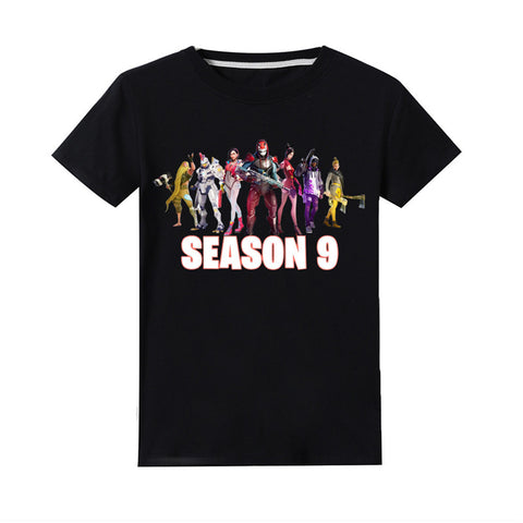 Season 9 T-shirt Kids Cotton Tee Short Sleeves