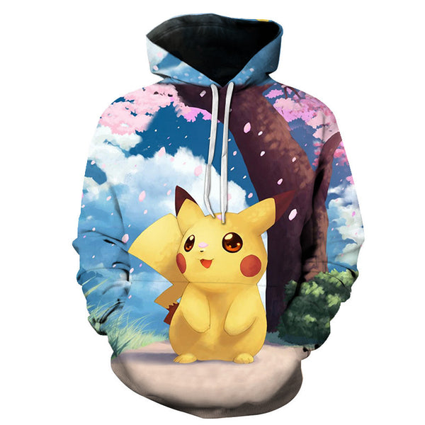 Pikachu and Pokemon Characters Hoodie Cute 3D Sweashirt