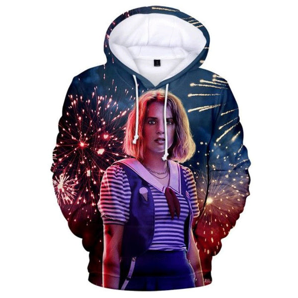 Stranger Things Season 3 Hoodie 3D Printed Hooded Sweatshirt Female Characters