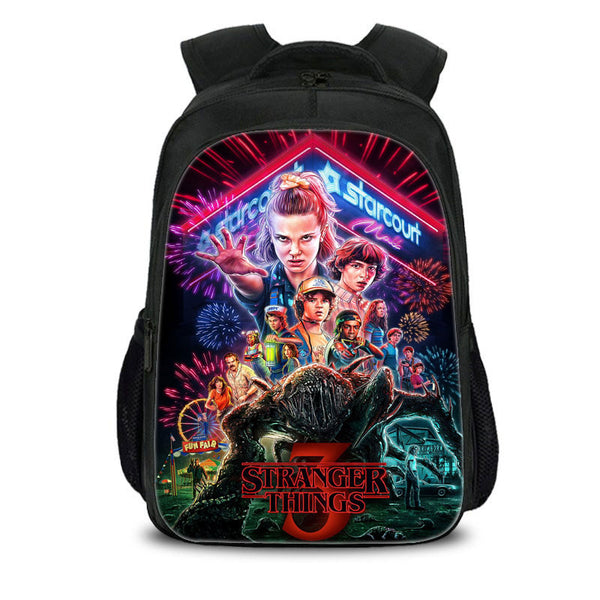 Stranger Things Backpack Youth School Bag for School