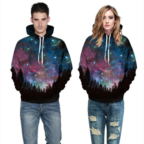 Forest Galaxy Pullover Hoodies Sweatshirt