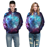 Purple Blue Galaxy Hoodies 3D Pullover Sweatshirt