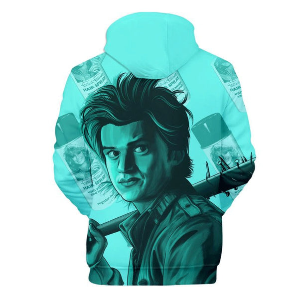 Unisex Stranger Things 3D Hoodie Steve Harrington Sweatshirt Pullover