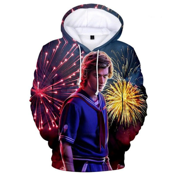 Stranger Things Season 3 Hoodie 3D Printed Hooded Sweatshirt Male Characters