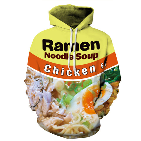 Long Sleeve Noodle Soup 3D painted hoodie