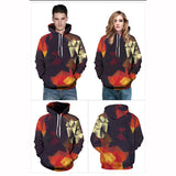 Geometric Abstract Graphic 3D Painted hoodie Sweatshirt