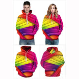Hoodies colorful Graphic 3D Pattern Print Sweatshirt
