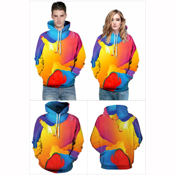 3D Sweatshirt Print Geometric Abstract Hoodie