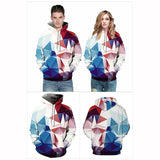 Geometric Abstract Graphic 3D Printed Pullover Sweatshirt