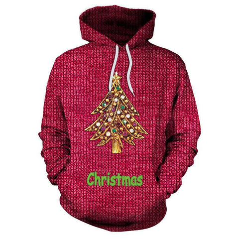 Christmas Golden Tree 3D Printed Hoodie Sweatshirt Pullover