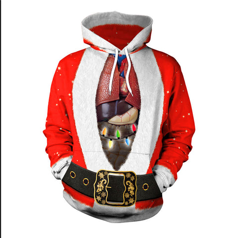 Christmas Life Science Theme 3D Printed Hoodie Sweatshirt Pullover