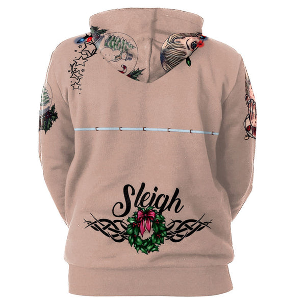 Women's Sexy 3D Print Hoodies Sweatshirt Tops