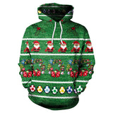 Christmas Wreath and Santa 3D Printed Hoodie Sweatshirt Pullover
