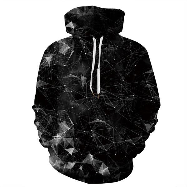 Black galaxy 3D Print Hooded Sweatshirt