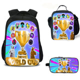 Fortnite World Cup boys girls Oxford Backpack With Luch Bag 3PCS