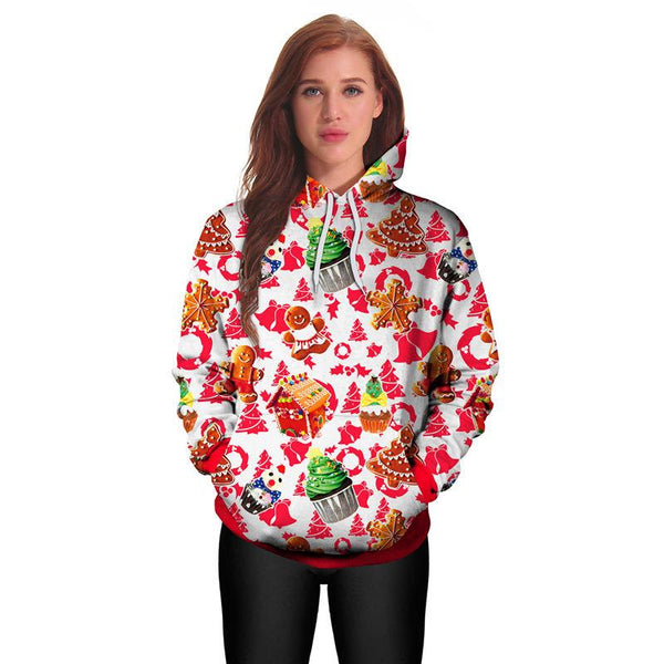 XMS Classical Theme 3D Printed Hoodie Sweatshirt Pullover