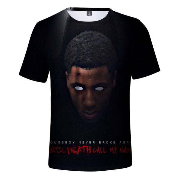 YoungBoy 3D Printed T-Shirt Short Sleeves