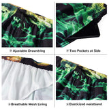 Men 3D Printed Beach Board Shorts Pockets Cool Mesh Lining Swim Trunks