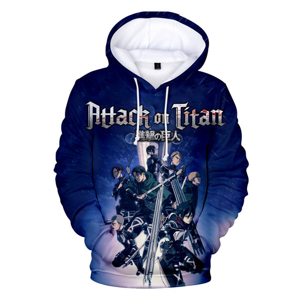 Casual Attack on Titan Pullover Hoodie