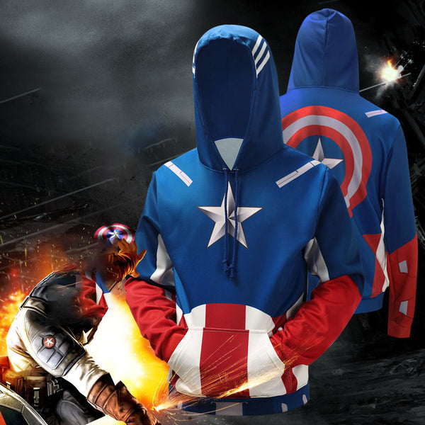 Men's Realistic 3D Digital Print Pullover Hoodies Sweatshirt