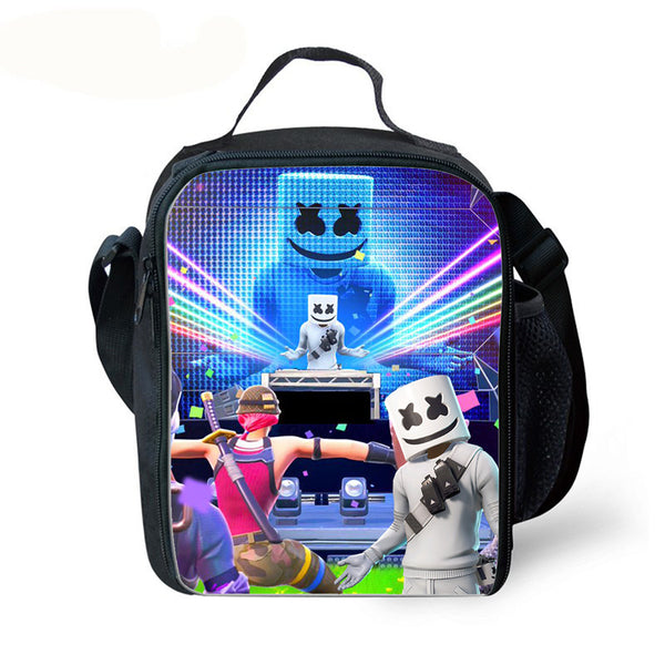 Kids Marshmello Lunch Box Waterproof Insulated Lunch Bag for School