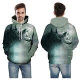 doubles Grey wolf 3D hoodie
