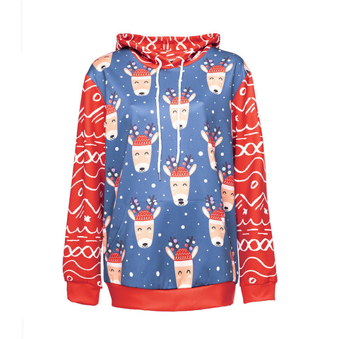 Funny Deer Hoodie Sweatshirt For Women