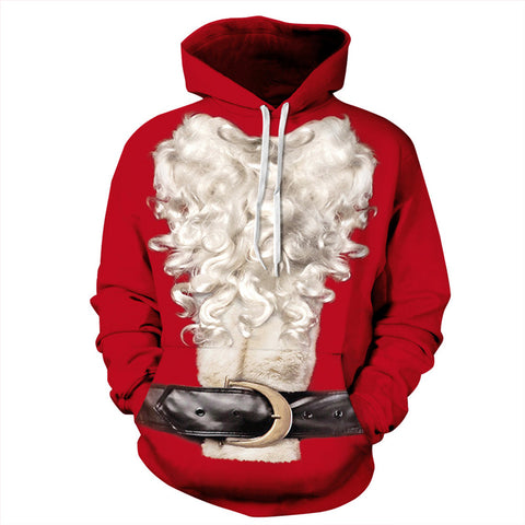 Beard and Belt 3D Printed Hoodie Sweatshirt Pullover