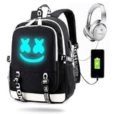Marshmallow Backpack Luminous Cool Smily Face Backpack